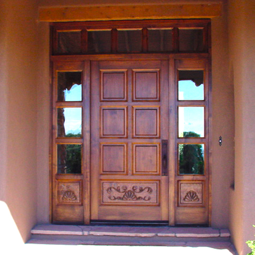 Custom Carved Wood Front Door