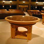 Handcrafted Church Offering Table
