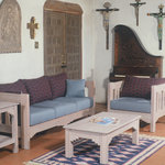 Wood Frame Living Room Set