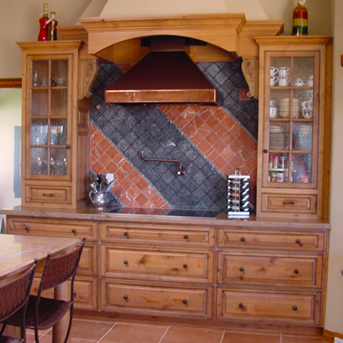 Custom Kitchen Hutch and Cabinetry
